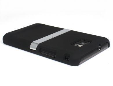 Svart skal med bordställ till Samsung i9100 Galaxy S2