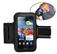 Svart sportsarmband till Samsung Galaxy II i9100