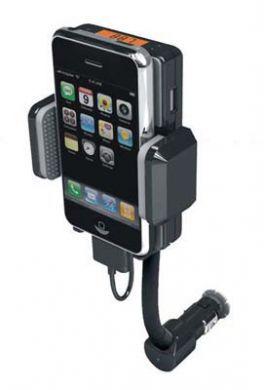 Mobilhållare / billaddare med FM sändare
